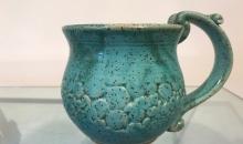 Turquiose textured mug