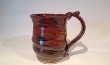 cone 10 celedon mug