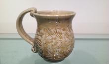 cone 10 leaf textured mug